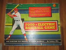 VINTAGE FOTO ELECTRIC BASEBALL GAME IN THE ORIGINAL BOX - WORKING CONDITION