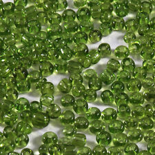 Perles de Rocailles en verre Transparent 2mm Vert Foncé 20g (12/0)