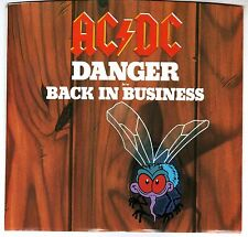 AC/DC: DANGER / BACK IN BUSINESS 45 RPM ANGUS YOUNG BRIAN JOHNSON HARD ROCK