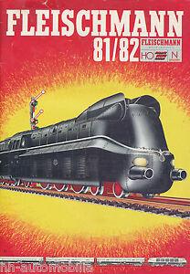 Fleischmann Modelleisenbahn Katalog 1981 1982 D Modellbahn catalog model rail