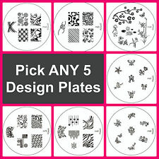 5 Konad Design Image Plates of your choice for Nail Art Stamping transfer