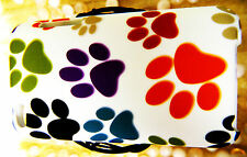 Apple iPod Touch 4 4th Gen WHITE Puppy Dog Paws RED GREEN Cover Case