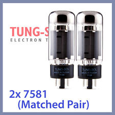 2x Tung Sol 7581 Tungsol TS Vacuum Tubes 6L6GC TESTED, Matched Pair