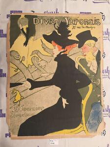 Henri de Toulouse-Lautrec Le Divan Japonais Original Lithographic Poster 19x24
