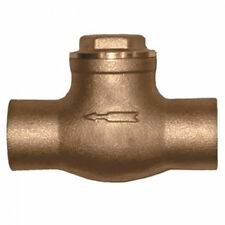 """1/2"""" Brass Solder Ends Sweat Spring Check Valve - Lead Free"""