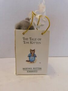 Tom Kitten Beatrix Potter an Eden gift Miniature cat in bag Clip-On Plush Toy