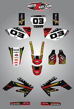 Honda CRF 250 - 2006 - 2007 Full Custom Graphic kit FACTORY Style stickers