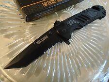 Tac-Force Assisted Open Black Rescue Tanto Pocket Knife Imm Carbon Fiber 905TS