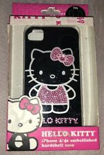 FOR APPLE iPHONE 4/4S GENUINE HELLO KITTY CRYSTAL DIAMOND CASE BLING HARD COVER