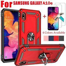 For Samsung Galaxy A10e A20 A50 Case Cover Ring holder Armor+HD Screen Protector