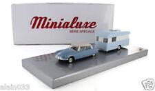 Minialuxe Coffret attelage Citroën DS 19 Bleue et caravane Digue 1/43 N° 261/300