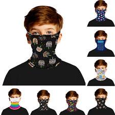 Kid Boy Girl Balaclava Neck Tube Warmer Scarf Biker Face Mask Multi-Use Bandana