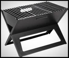 Portable Notebook Charcoal Grill Mini Outdoor BBQ Cooking Travel Compact Folding