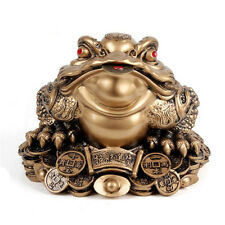 1pc 2 Sizes Feng Shui Money Lucky Fortune Ching Frog Toad Coin Home Decoration