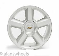 "4 NEW Chevy Suburban Tahoe LTZ Silver 20"" Wheels Rims Gold Bowtie Free Ship 5308"