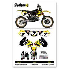 1999-2000 SUZUKI RM 125-250 Yoshimura Graphics Kit Motocross Graphics
