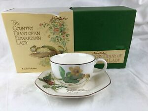 COUNTRY DIARY OF AN EDWARDIAN LADY - CUP & SAUCER BY NORITAKE IN ORIGINAL BOX