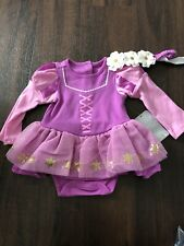 Disney Baby Rapunzel Tangled Costume Outfit 6-9 Months NWT