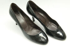 MAX MARA women shoes sz. 7 (37.5) black patent leather.Made in Italy S5769