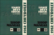 1982 Chevy Truck Shop Manual Pickup Van Blazer Suburban Scottsdale Silverado