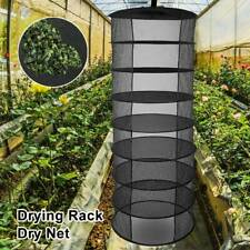 Hanging Dry Dry Net Rack Hydroponic Grow Tent Herb Bud Plant Washing 8 Tier