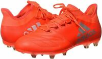 Adidas X16.2 FG Leather Mens Football Boots Soccer Cleats S79544 Red Bnib New