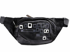 Black Bum/Waist Bag 3 Zip Compartments with Adjustable Strap.For Sport/Leisure