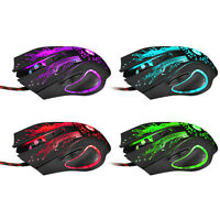3200DPI LED Optical 6D Button USB Wired Gaming Game Mouse Mice for Pro Gamer PC
