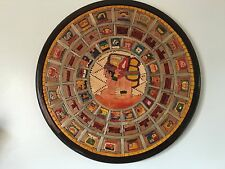 "Mayan Calendar 2012 End of the World Wooden Art Wall Decor Large 19"" Diameter"
