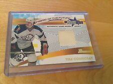 01-02 2001-02 BOWMAN YOUNGSTARS TIM CONNOLLY FABRIC OF THE FUTURE JERSEY SABRES