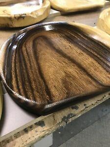 "1 Bar Stool Handmade Solid Teak Wood Strong Metal Base Satin Finish H-27""x15""x2"""