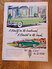 1950 Ford Custom Convertible Ad  A Beauty on the Boulevard Bearcat in the Brush