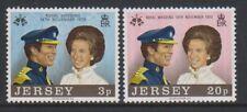 Jersey - 1973, Mariage Royal Ensemble - MNH - Sg 97/8