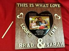 Fabulous Personalized  Sign Custom Wood Frame Couple Wedding Gift With Names