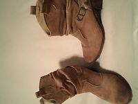womens cowgirl boot brown ankle