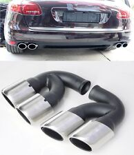 Für Porsche Panamera 970 Endrohre Auspuffblende 10-14 GTS Turbo 4S Look #64