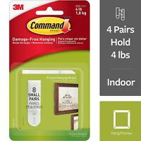 Command Small Picture Hanging Strips White 8 Sets (17205-ES) 703422