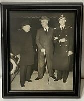 FDR and WINSTON CHURCHILL at WHITE HOUSE Original Vintage WWII D-Day Photograph