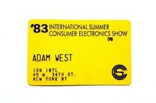 AUTHENTIC VINTAGE ADAM WEST MEMORABILIA #1 PERSONAL CARD BATMAN 1966 TV SERIES