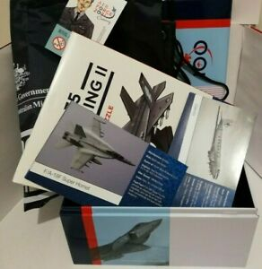 2021 RAAF CENTENARY LOT:  EMPTY TIN + MODEL PLANE + TWO POSTERS + ZOOM BAG Mint