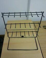 24 Hook Keyring Jewelry Display Stand Key Rings Market Shop Metal Wire Rack