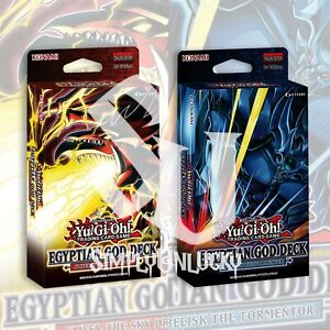 EGYPTIAN GOD DECK: SLIFER & OBELISK DECK 80 CARDS YuGiOh SEALED Presale 6/9/21