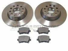 VW GOLF MK6 2.0 GTi 2009-2013 REAR 2 BRAKE DISCS AND PADS (CHECK SIZE 282MM)