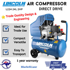 Lincoln 2HP Direct Drive Air Compressor L224 24l High Durability Metal Body New