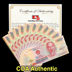 VIETNAMESE DONG CURRENCY (VND) - 200 000 Dong - Uncirculated - COA Authentic