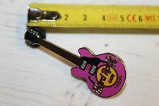 Hard Rock Cafe - Leeds Pink Guitar - Pin Badge (Ref B1)