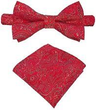 Fliege + Einstecktuch Schleife Smokingfliege Binder de Luxe 458 rot Krawatten