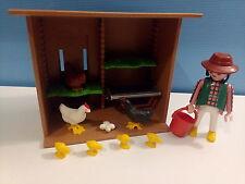 sympa poulaillet poule coq  playmobil (  ferme  ) 0691