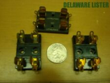 Vintage Lot Of 3x Double Sm 2 Postion Chassis Mount Littelfuse Fuse Holders 357
