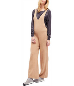 Free People Damen V-Neck Knit OB653779 Jumpsuit Relaxed Caramel Brown Größe XS